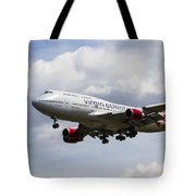 Virgin Atlantic Boeing 747 Tote Bag