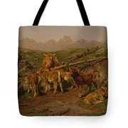 Weaning The Calves Tote Bag