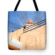 Windmill - Trapani Salt Flats Tote Bag