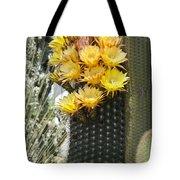 Yellow Cactus Flowers Tote Bag