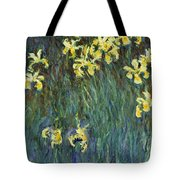 Yellow Irises Tote Bag