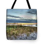 Yorktown Beach At Sunrise Tote Bag