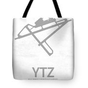 Ytz Billy Bishop Toronto City Airport In Toronto Canada Runway S Tote Bag