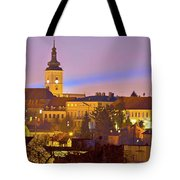 Zagreb Historic Upper Town Night View Tote Bag