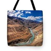 Zanskar River Ladakh Jammu And Kashmir India Tote Bag