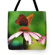 #416 14a Butterfly Fritillary, Coneflower Lunch Break Good Till The Last Drop Tote Bag