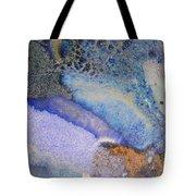 42. Blue Purple Black Glaze Painting Tote Bag