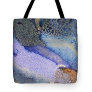 42. V1 Blue Purple Black Glaze Painting Tote Bag