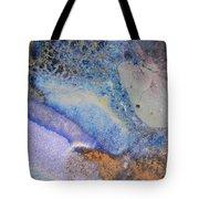 42. V2 Blue Purple Orange Black Glaze Painting Tote Bag