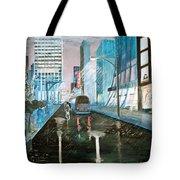 42nd Street Blue Tote Bag by Steve Karol
