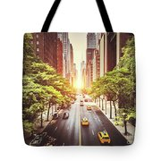 42nd Street In New York During The Day  Tote Bag