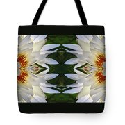 White Lotus Mandala Tote Bag