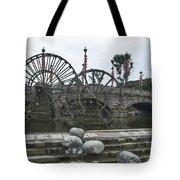 4357- Water Wheels Tote Bag