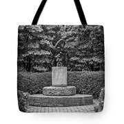 4387- Sculpture Black And Whi Tote Bag