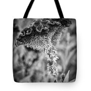 4390- Flower Black And White Tote Bag