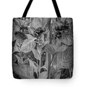 4398- Flower Black And White Tote Bag