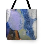 44. Blue Purple White Glaze Painting Tote Bag