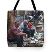 4461- Street Venders Tote Bag