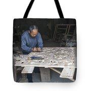 4466- Wood Carver Tote Bag