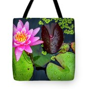 4475- Lily Pads Tote Bag
