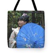4479- Girl With Umbrella Tote Bag