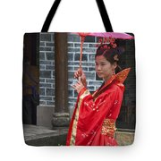 4494- Girl With Umbrella Tote Bag