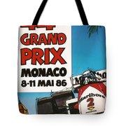 44th Monaco Grand Prix 1986 Tote Bag