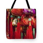 4647- Chinese Tassels Tote Bag
