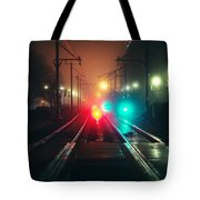 47015 Miscellaneous Rail Track Rail Track And Lights Tote Bag