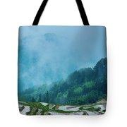 Longji Terraced Fields Scenery Tote Bag by Carl Ning