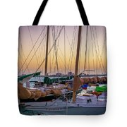 4956- Key West Harbor At Sunset Tote Bag