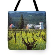 4b6394 Mustard In The Vineyards Tote Bag