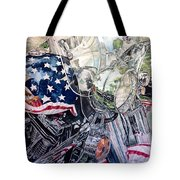4th Of July Cycle Tote Bag