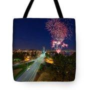 4th Of July Fireworks Portland Oregon Tote Bag