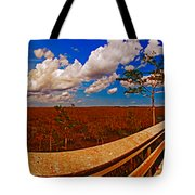 4x1 Everglades Panorama Number Two Tote Bag
