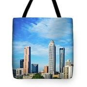 Atlanta Downtown Skyline With Blue Sky Tote Bag