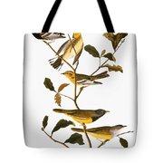 Audubon: Warbler Tote Bag