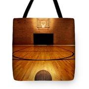 Basketball And Basketball Court Tote Bag