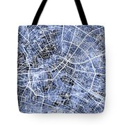 Berlin Germany City Map Tote Bag