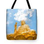 Big Golden Buddha Tote Bag