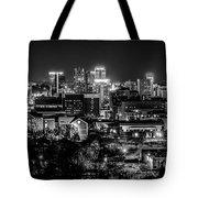 Birmingham Alabama Evening Skyline Tote Bag