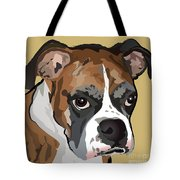 Boxer Dog Portrait Tote Bag