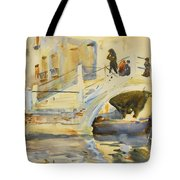 Bridge With Figures Tote Bag