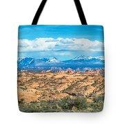 Canyon Badlands And Colorado Rockies Lanadscape Tote Bag