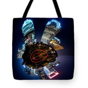 Charlotte Skyline Mini Planet Tote Bag