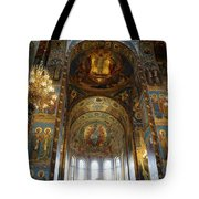 Church Of The Savior On Spilled Blood  Tote Bag