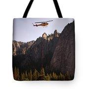 Climber Rescue Operation In Yosemite Tote Bag