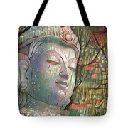 Colorful Indian Diety Figure Tote Bag