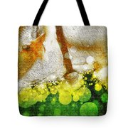 Cow With Bell Tote Bag