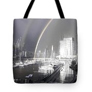 Docklands Double Rainbow Tote Bag